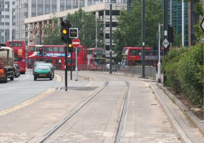 The tram junction with Wellesley Road at West Croydon. Will TfL's proposals reduce congestion here - or make it worse? TfL admits it hasn't yet done the modelling work to test their proposals