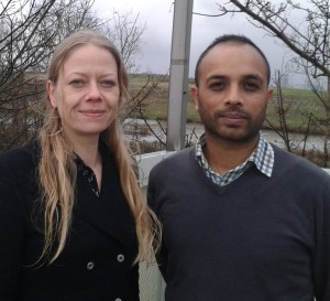 Green Party Mayoral candidate Sian Berry visiting the Beddington incinerator site with Shasha Khan, the Croydon campaigner