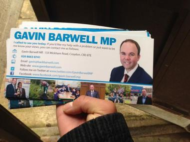 The local MP has been out campaigning with members of a Tory youth group under investigation for some serious allegations