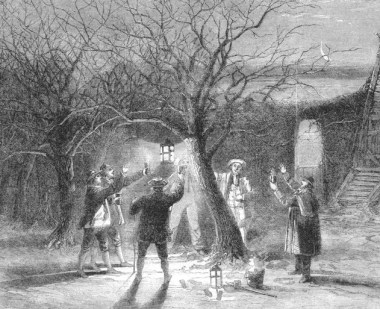Wassailing is such an ancient rite, they used to do it before the age of the iPhone