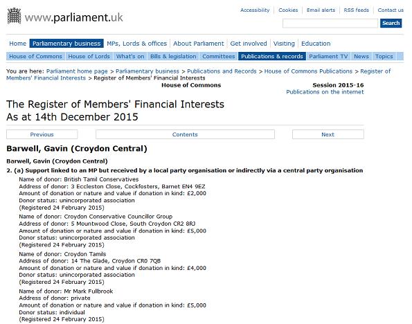 Register of internests Gavin Barwell Dec 2015 1