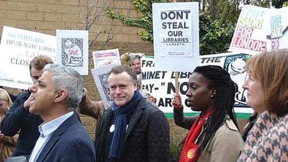 south london press library protest picture