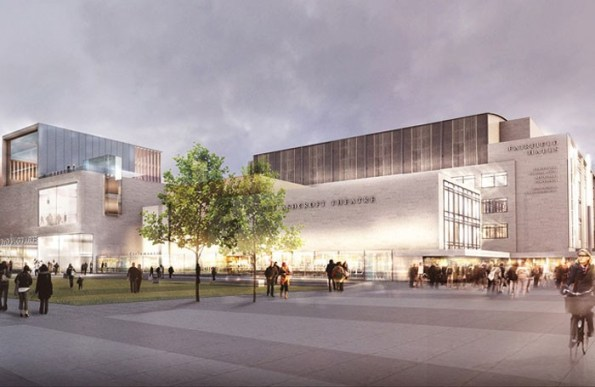 The view of the bright new future for the Fairfield Halls, as offered by architects Rick Mather