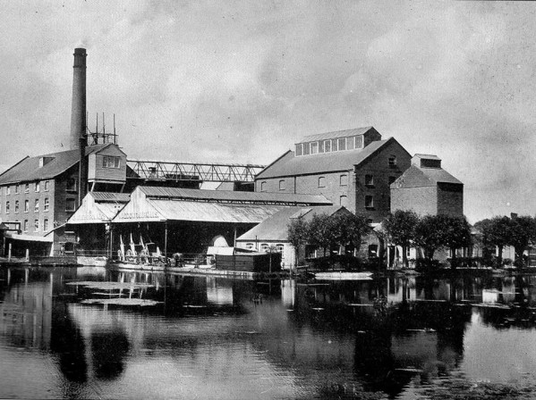 Waddon Mill in Mill Lane, around 1900