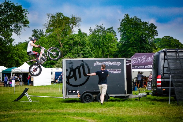 And all rounded off by another display from the motorcycle stunt team. Photograph by Lee Townsend