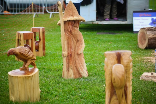 Other displays of country crafts included wood carving, in case anyone wants to replace their garden gnomes with a Gandalf wizard. Photograph by Lee Townsend