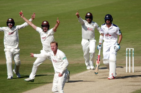 Surrey skipper Gareth Batty spun the county to a rare Championship victory over Hampshire. What does his team need to do to avoid relegation? Photo: Mark Sandom of @fleetphotos