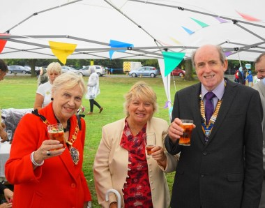 Toni Letts, the Deputy Mayor of Croydon (left) enjoyed the Old Coulsdon Village Fair on Saturday with Roy Chamberlain, his wife Valerie and Deputy Mayor of Croydon Toni Letts