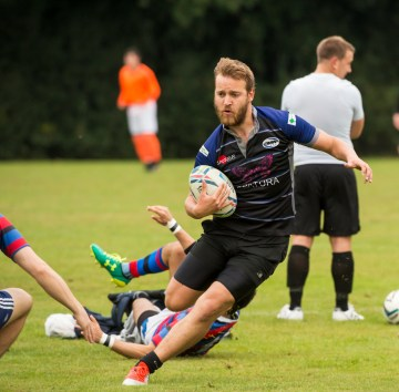 Try time: MidWives' Rob Farmer has scored tries in his last two games, but still been on the losing side