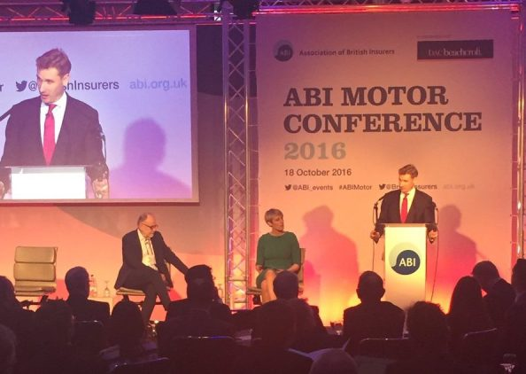 Philp performing his turn for the ABI at their motor insurance conference last week