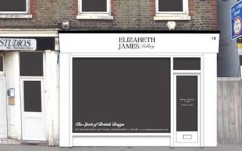 This is what the Elizabeth James Gallery should look like when ready to open next month