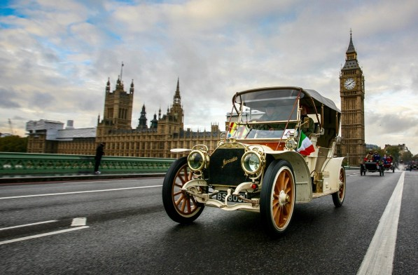 Coming your way: Nearly 420 antique vehicles will be driving past Croydon doorsteps in the London to Brighton Veteran Run tomorrow morning