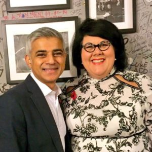 London Mayor Sadiq Khan and his night time economy 'consultant', Amy Lamé