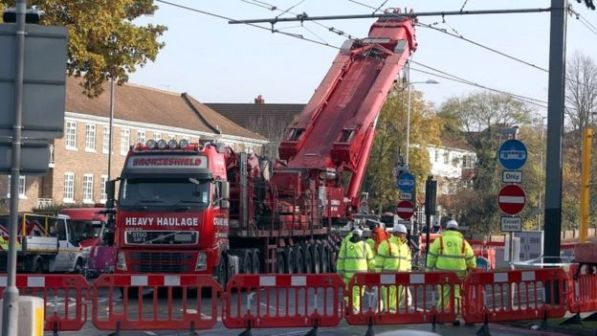 The crashed tram carriages were removed from the site over the weekend