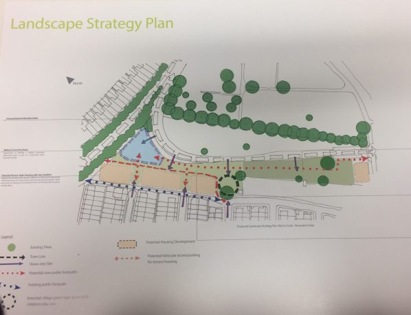 This was the outline plan which developers handed out at last week's Love Lane meeting