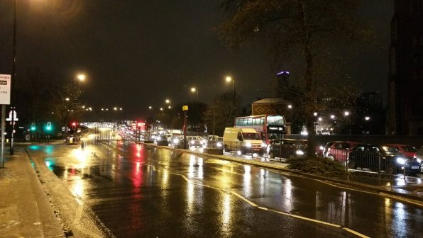 Traffic jams and delayed trams were caused more by poor driving than the 'bad weather'