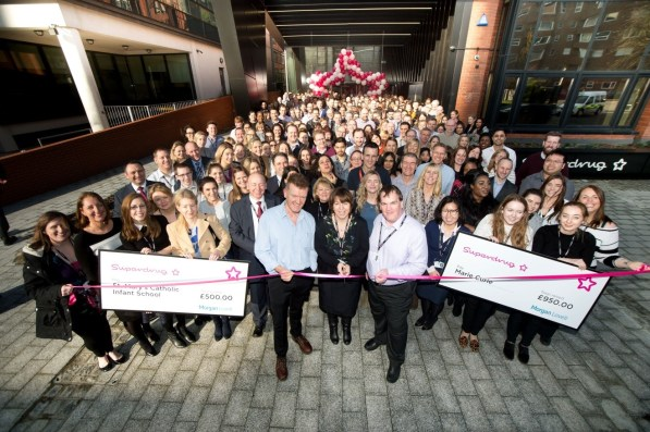 Superdrug's staff get ready to move in to their new head office in central Croydon