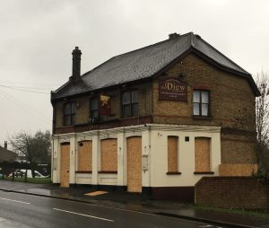 Another pub closure: The View, on Selsdon Road, had the hoardings go up last week