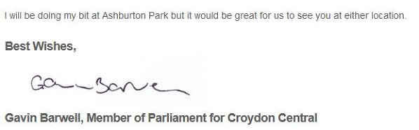 Virtue-ssignalling from a constituency MP who hasn't mentioned Ashburton in his annual report for three years