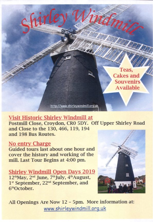 Shirley windmill poster  2019