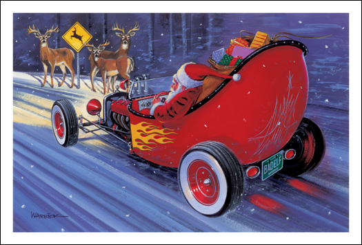 Santa Claus Makes Last Minute Chassis Change Inside Dirt