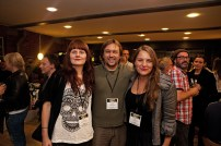 Estonian filmmakers (from left to right) Marion Koppel, Priit Tender and Anna Hints