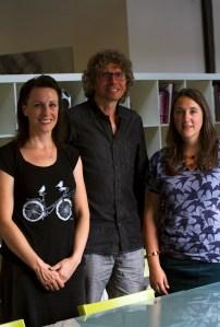 Hazel Grianfrom, Tim Kindberg andCharlotte Crofts from the Pervasive Media Studio