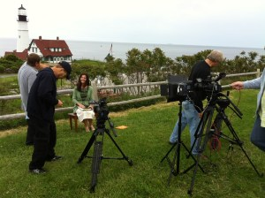 "EWTN Series Host Susan Conroy on the ""set"" of her new series, ""Coming to Christ,"" which airs this fall on EWTN!"