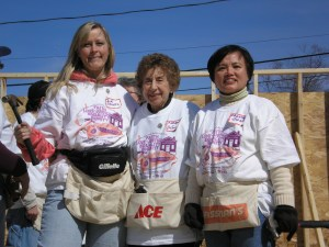 "Each chapter or ""court"" of The Catholic Daughters of the Americas picks a project in which to be involved. In this case, it's helping build houses with Habitat of Humanity!"