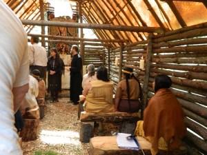 Kateri inside chapel