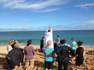 Sunday Mass on the beach in Molokai 8