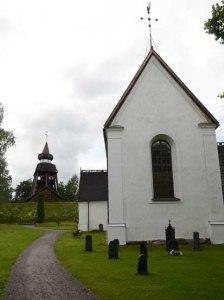 Sweden Njutanger, Halsingland outside of church