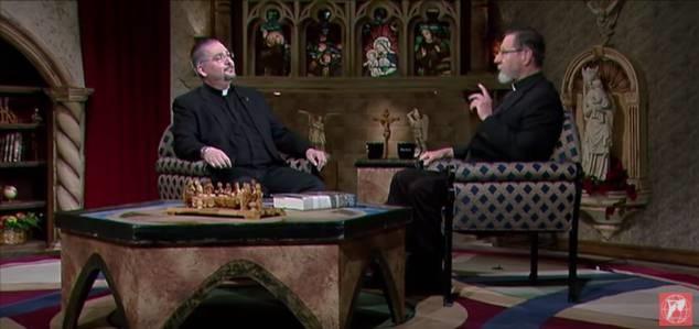 Alaska Father Fath on EWTN Live set