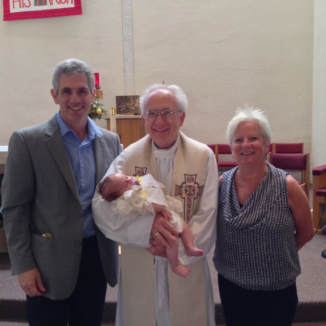 Dr. Bob and Margie at granddaughter's baptism