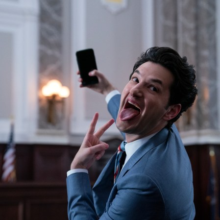 """Ben Schwartz as F. Tony Scarapiducci in """"Space Force."""" (Photo courtesy of Netflix)"""