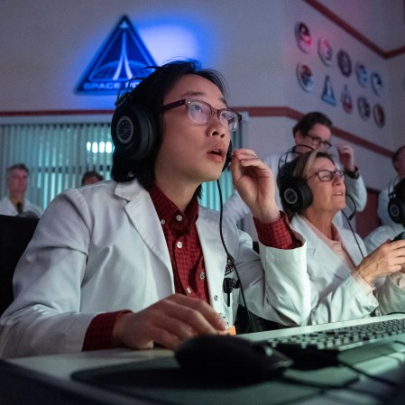 """Jimmy O. Yang as Dr. Chan Kaifang in """"Space Force."""" (Photo courtesy of Netflix)"""