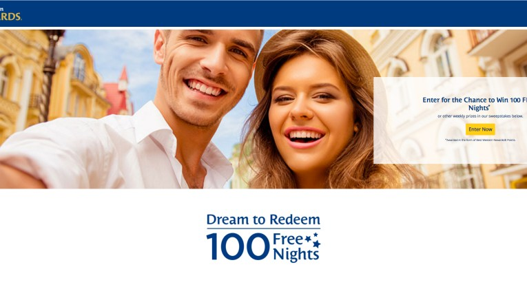 Enter to win 100 free nights from Best Western
