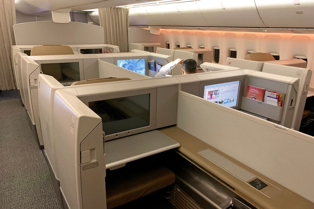 Air China First Class cabin