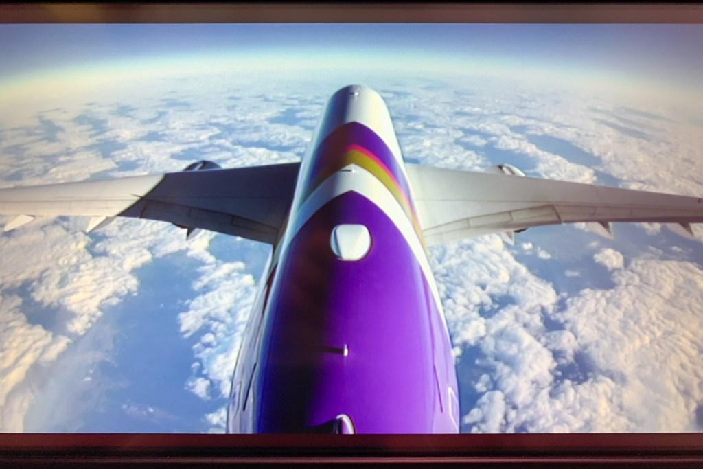 Thai Airways Airbus A350 rear camera view