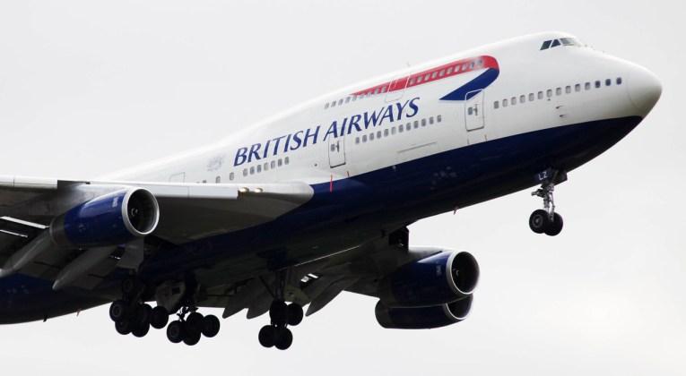 Boeing 747-400 in British Airways livery (Source: British Airways)