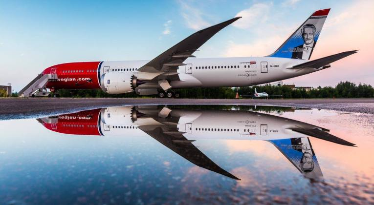 Boeing 787 Dreamliner in Norwegian livery (Source: Norwegian)