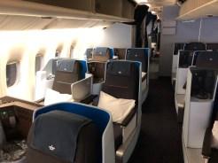 KLM World Business Class Boeing 777 Denpasar Singapore
