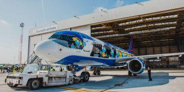 Brussels Airlines op pad met de smurfen