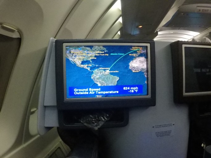 klm, business class, in-flight entertainmentscherm