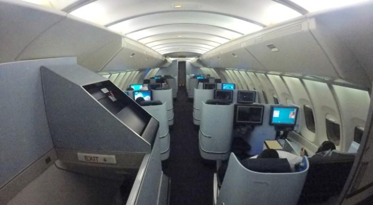 klm, boeing 747, upperdeck, business class