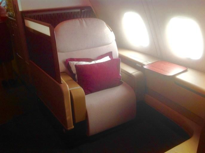 qatar airways, first class, a380