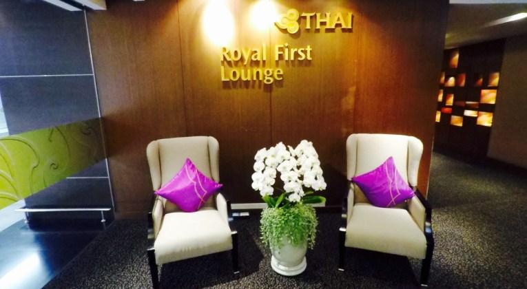 thai airways, royal first, first class, lounge, bangkok