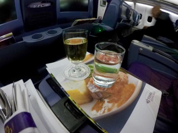 champagne, Thai airways a330, business class