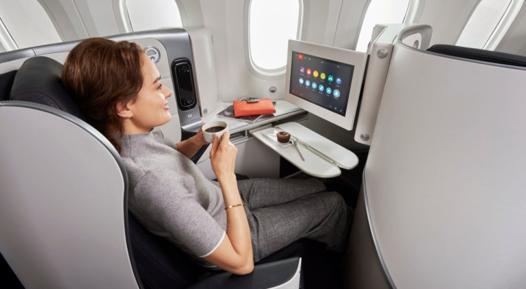 De Business Class cabine van Air France (Bron: Air France)
