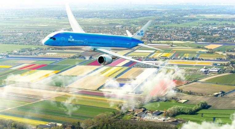 KLM's eerste Boeing 787-10 Dreamliner eind juni in Nederland